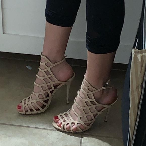 Bonnibel Shoes - Honeycomb stiletto heels